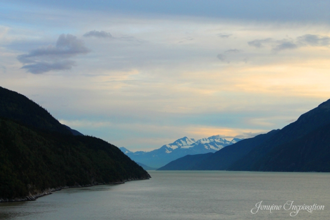 Sunrise at Tracy Arm Fjord