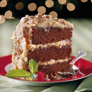 German Chocolate Cake Slice
